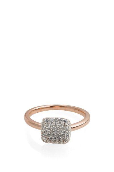 Ring Glam Square Rose