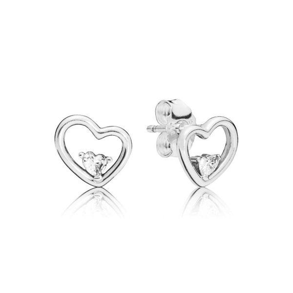 Paar Ohrstecker Asymmetric Hearts - Asymmetrisches Herz
