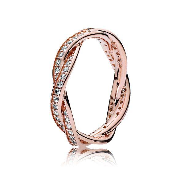 Ring Sparkling Twisted Lines-Verbundene Treue
