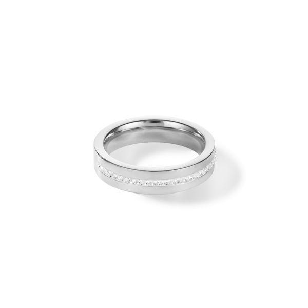 Ring Kristall Pavé Streifen kristall