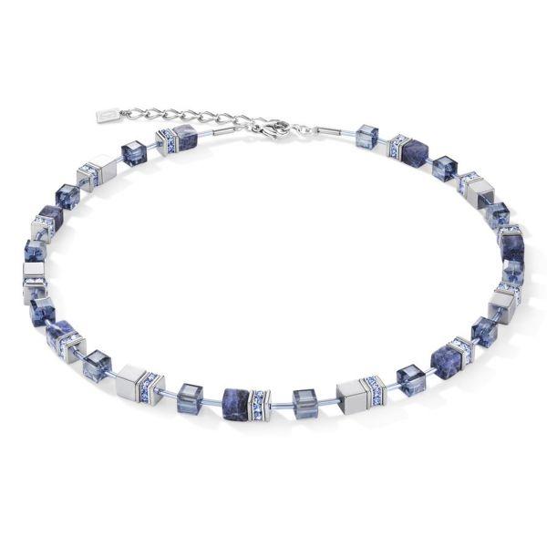 Collier GeoCUBE® Sodalith & Hämatit blau