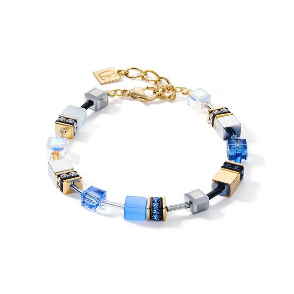 Armband GeoCUBE® blau-gold