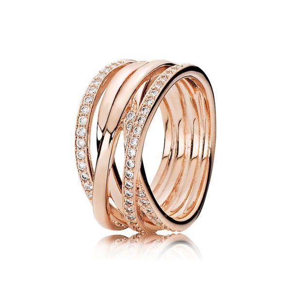 Ring Sparkling Lines - Funkelnde Bänder