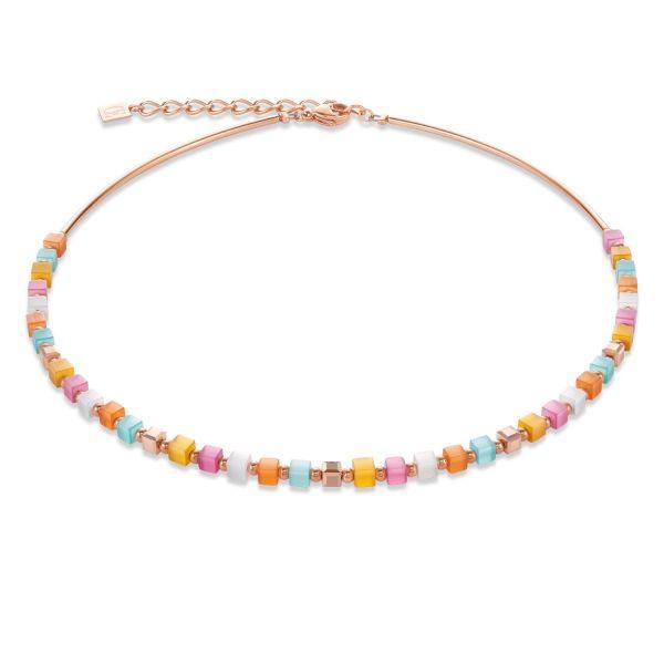 Collier GeoCUBE® small multicolor pastell