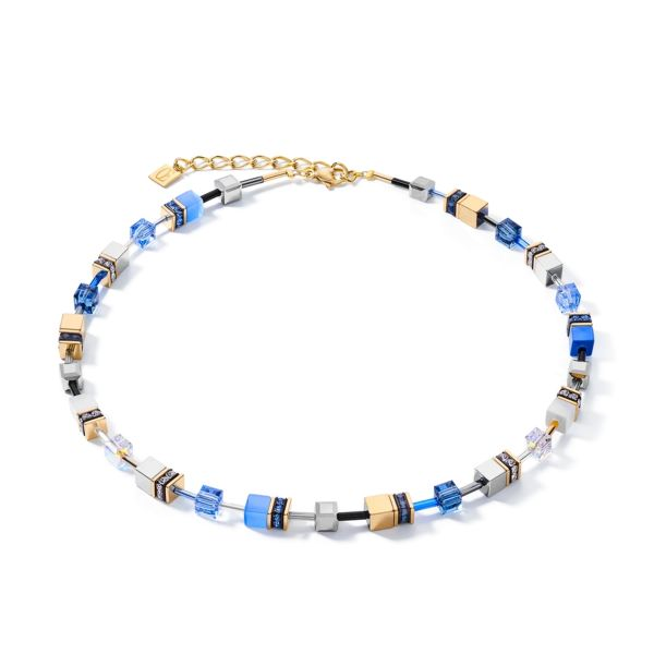 Collier GeoCUBE® blau-gold