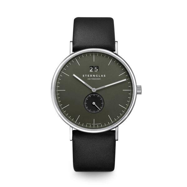 Armbanduhr Ivo rauchgrün Premium schwarz