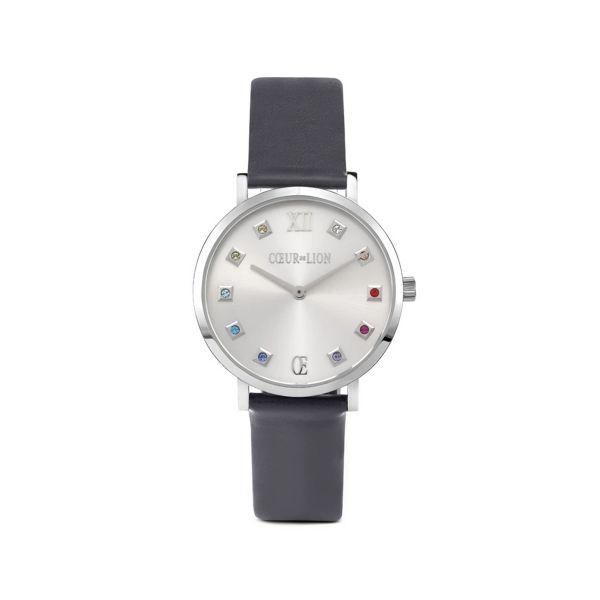 Armbanduhr Silver Sunray Anthrazit