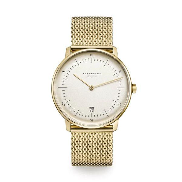 Armbanduhr Naos Edition Vintage sepia-satiniert