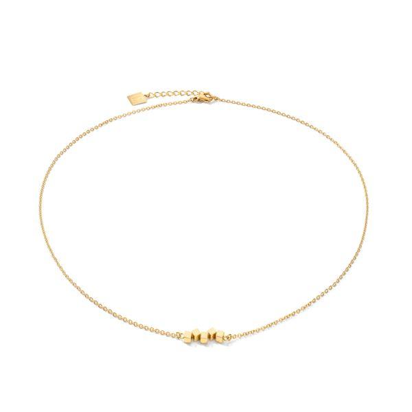 Collier Dancing GeoCUBE® small Edelstahl gold