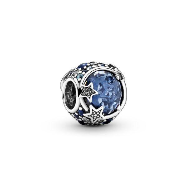 Element Himmlische blaue funkelnde Sterne