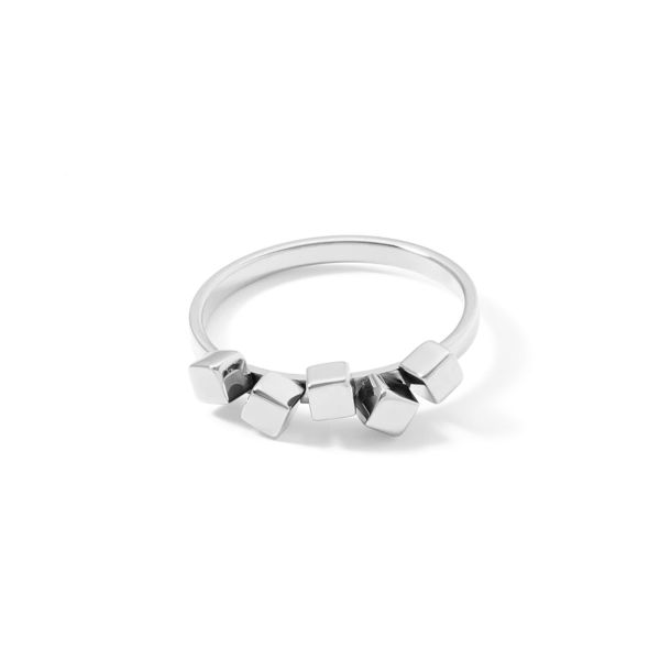 Ring Dancing GeoCUBE® small Edelstahl silber