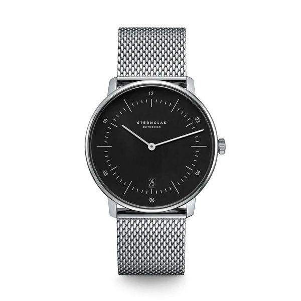 Armbanduhr Naos schwarz silber
