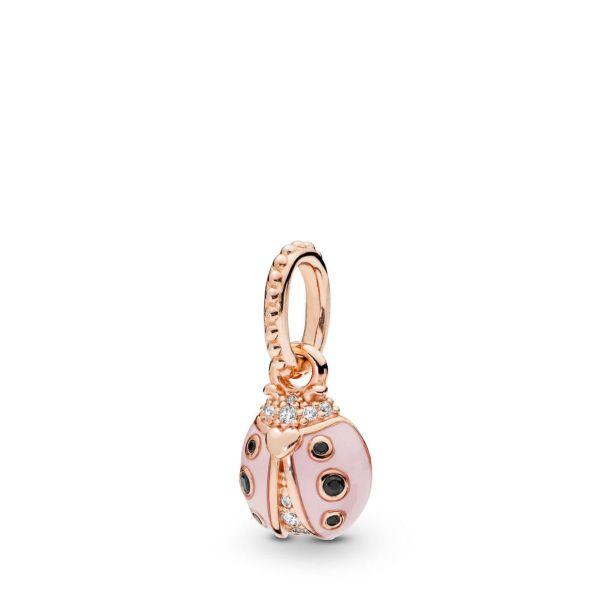 Anhänger Lucky Pink Ladybird - Rosa Marienkäfer