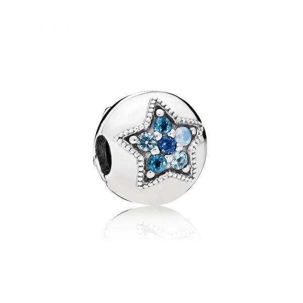 Clip Leuchtend Blauer Stern