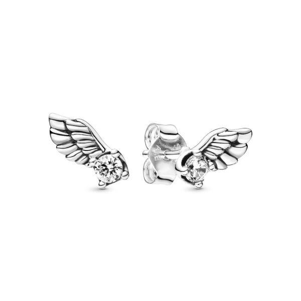 Paar Ohrstecker Funkelnder Engelsflügel