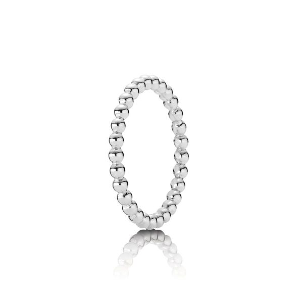 Ring Beaded Elegance - Metallperlen-Ring