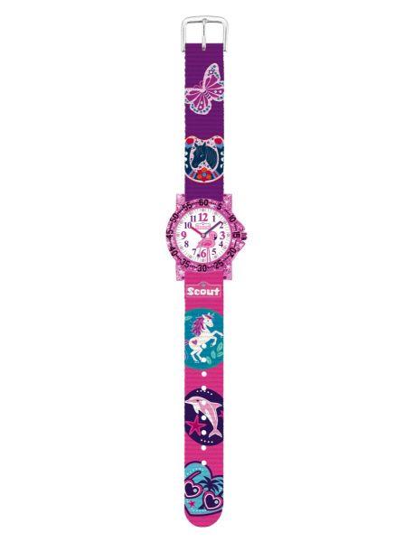 Armbanduhr Pferde, Delfin, Schmetterling, Einhorn