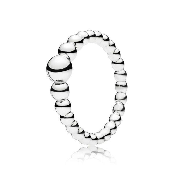Ring String of Beads - Metallperlen