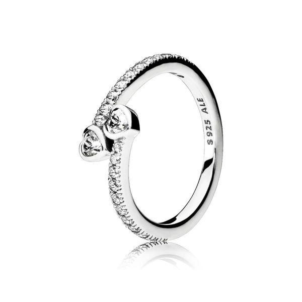 Ring Two Sparkling Hearts - Unendliche Liebe