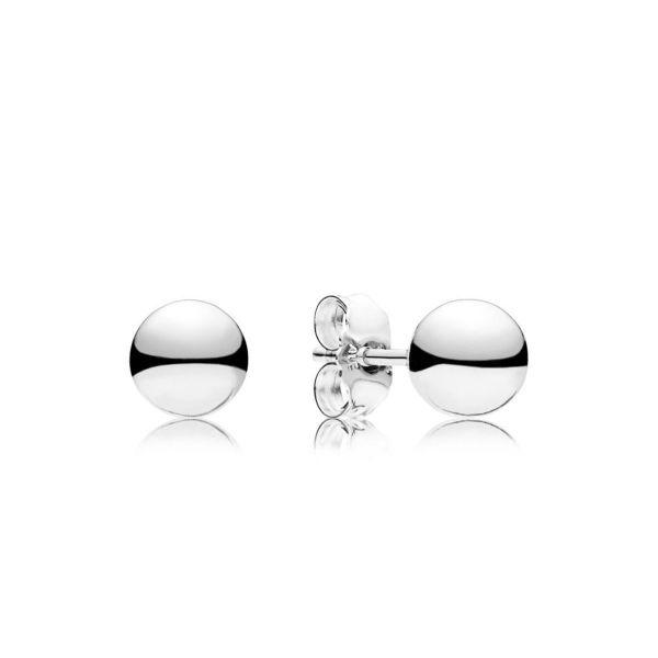 Paar Ohrstecker Classic Beads - Klassische Metallperlen