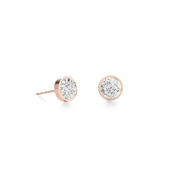 Paar Ohrstecker rosegold & Kristalle Pavé kristall