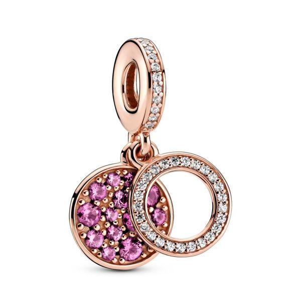 Element Funkelnde rosafarbene Scheibe