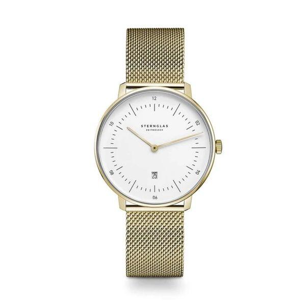 Armbanduhr Naos XS weiß gold