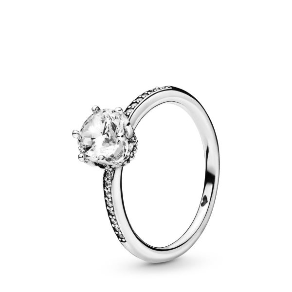 Ring Sparkling Crown - Klar funkelnde Krone
