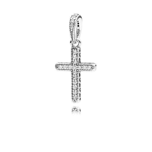 Anhänger Classic Cross - Funkelndes Kreuz