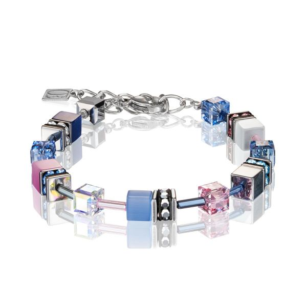 Armband GeoCUBE® blau-rosa