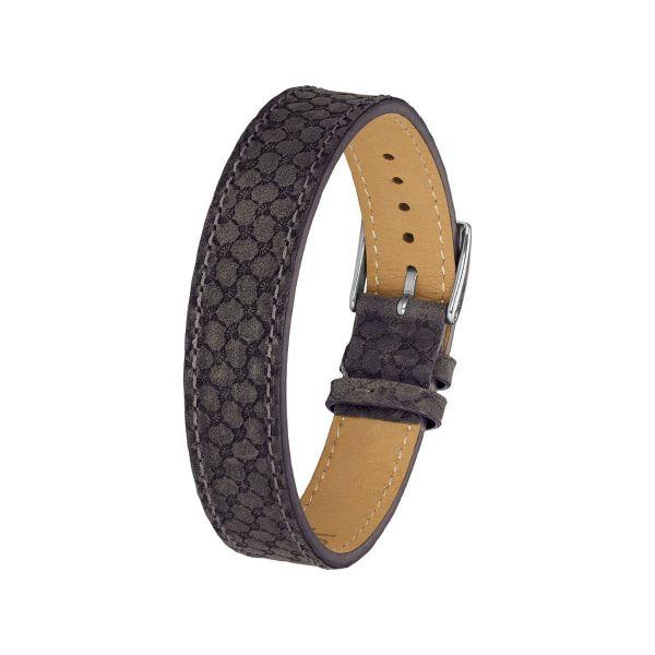 Armband Leder, grau