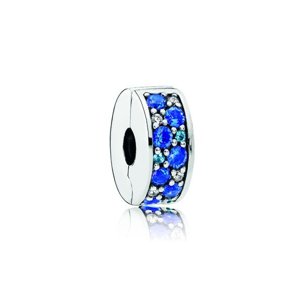 Clip Teal Vibrant Elegance - Blaue Pavé-Glanz