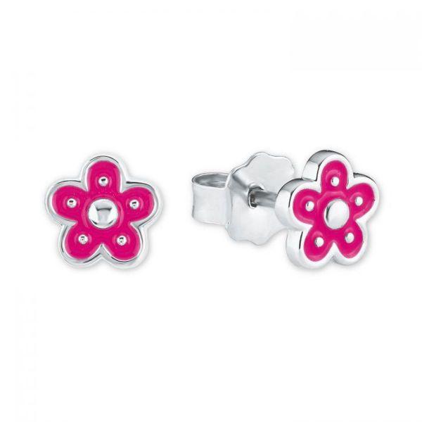 Paar Ohrstecker Blume pink