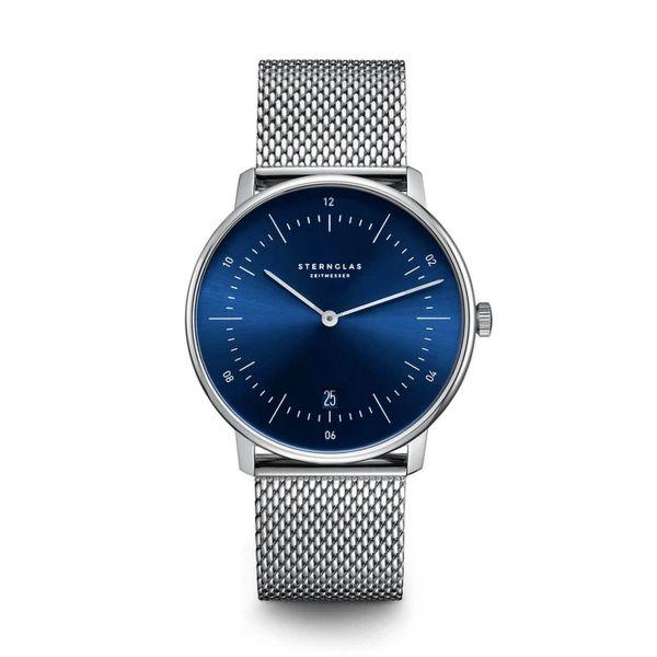 Armbanduhr Naos blau silber