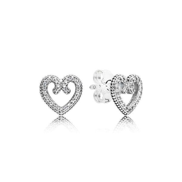 Paar Ohrstecker Heart Swirls - Herz Wirbel