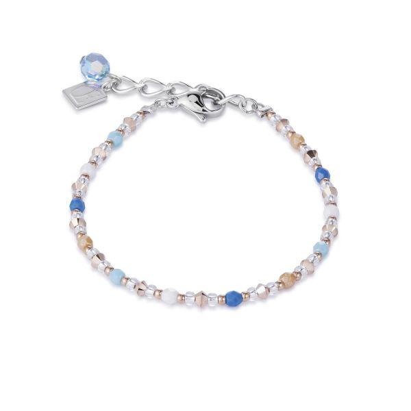Armband Swarovski® Kristalle & Edelstahl aqua