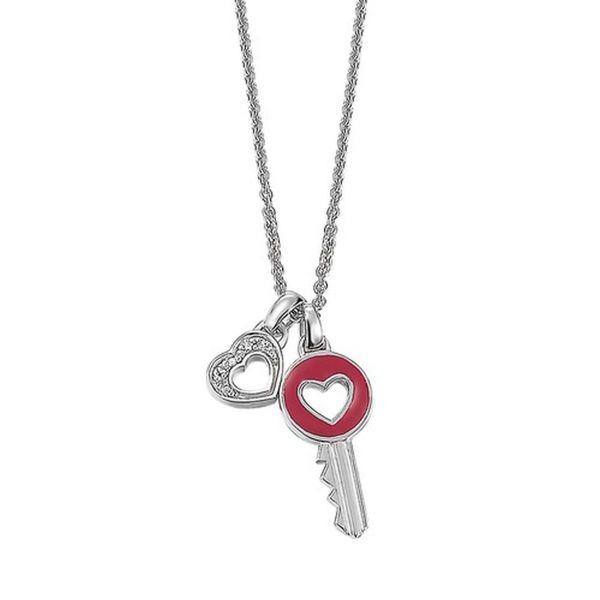 Collier Herz + Schlüssel