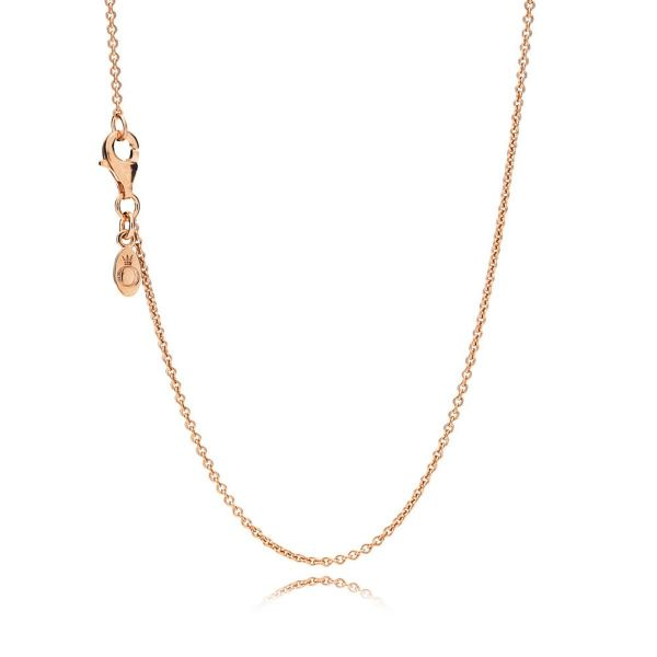 Collierkettchen Classic Cable - Rose Kette