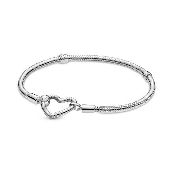 Armband Pandora Moments Herzverschluss