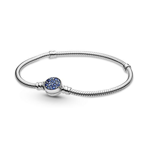 Armband mit Funkelndem Blauem Scheibenverschluss