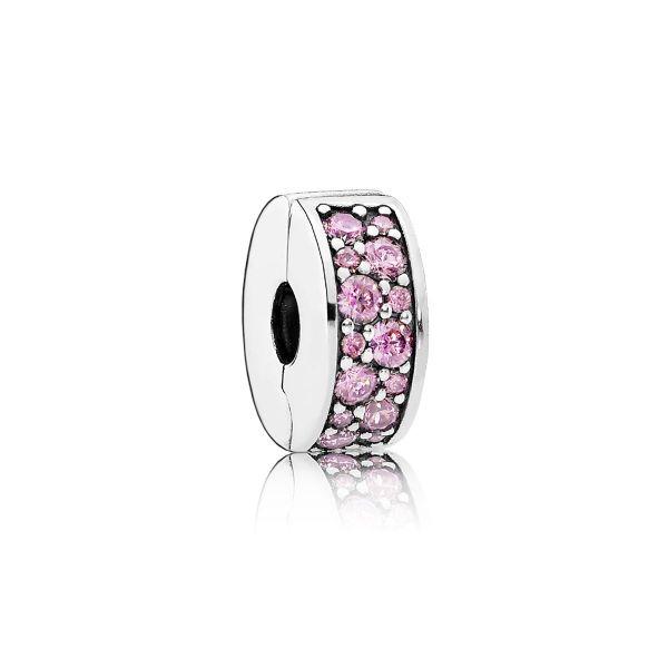 Clip Pink Shining Elegance-Rosafarbener Pavé