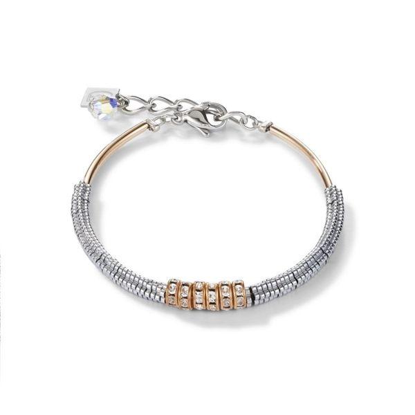 Armband Hämatit & Strass kristall