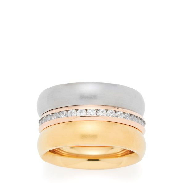 Ring Arabes, tricolore, Set 3 Ringe