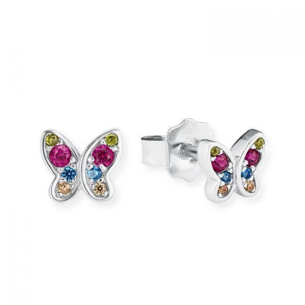 Paar Ohrstecker Schmetterling