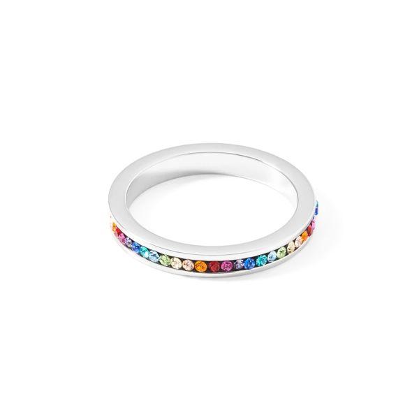 Ring Kristalle Pavé multicolor