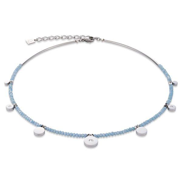 Collier Swarovski® Kristalle hellblau