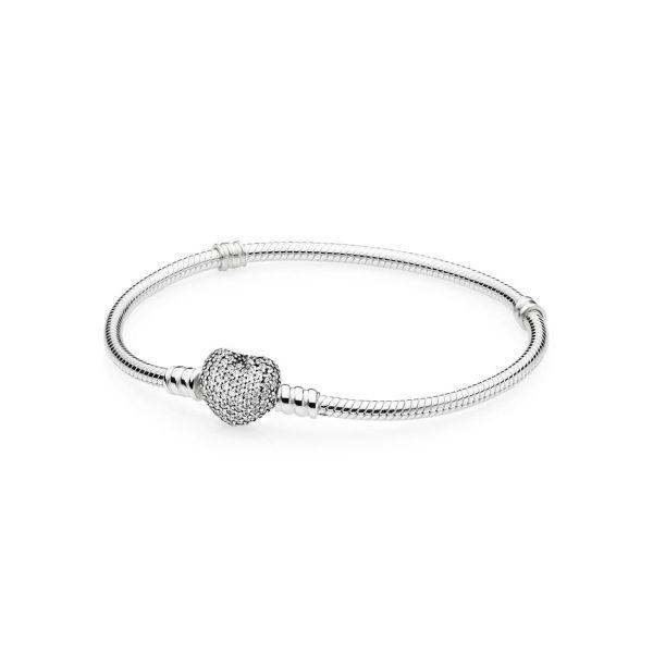 Armband Pavé- Herzverschluss